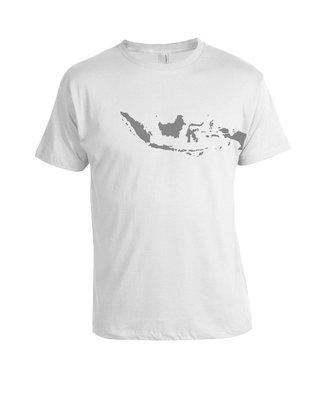 Tshirt Peta Indonesia wit