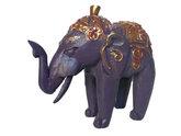 Houten olifantje (paars)