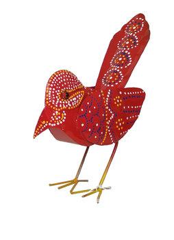 Vogeltje van ijzer (rood)