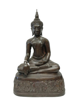 Grote boeddha brons
