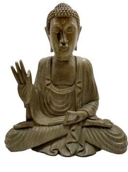Houtsnijwerk Boeddha 29cm