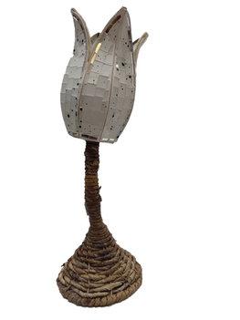 Lamp met mozaik wit