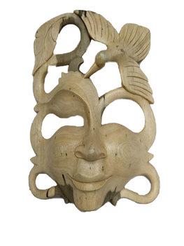 Decoratie masker met vogel