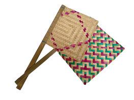 Kipas Sate - Waaier voor het roosteren van Sate (gekleurd/groot)