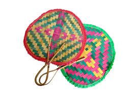 Kipas Sate - Waaier voor het roosteren van Sate (gekleurd/klein)