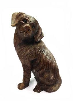Houtsnijwerk Hond 30cm