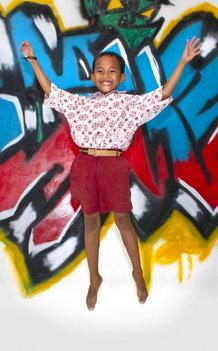 Schooluniform voor een kind in Indonesie