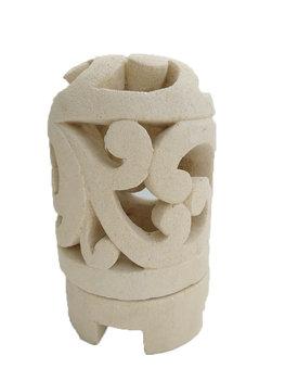 Lampje / waxine houder van steen Abstract