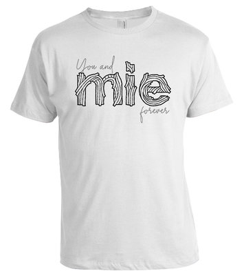 Tshirt You and Mie (wit)