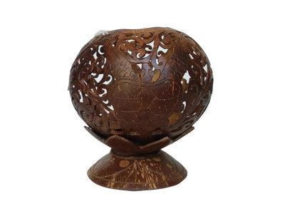 kandelaar / waxinehouder kokos