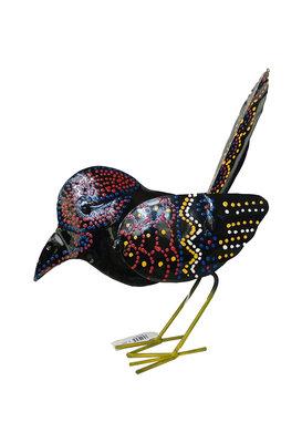 Vogeltje van ijzer (zwart)
