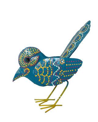 Vogeltje van ijzer (blauw)