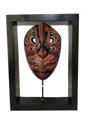 Masker op standaard in frame