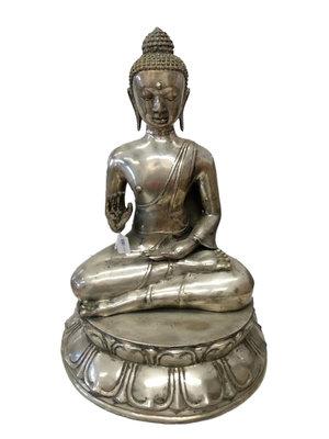 Grote boeddha nikkel op messing