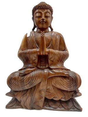 Houtsnijwerk Boeddha 52cm