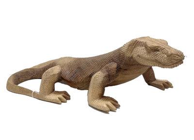 Houtsnijwerk Komodo / Hagedis 49cm