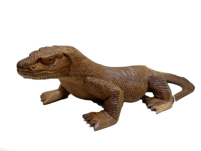 Houtsnijwerk Komodo / Hagedis 40cm