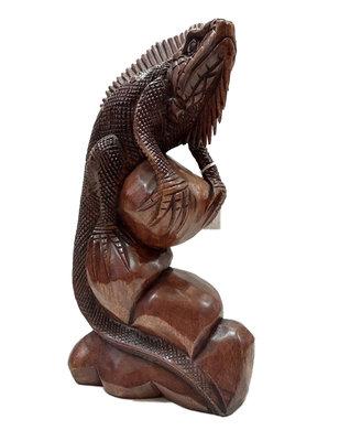 Iguana / agaam houtsnijwerk