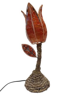 Lamp met mozaik oranje