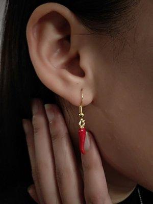 Oorbellen / oorhangers pepertje (rood)