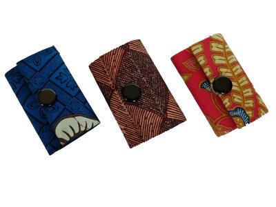 Sleutelhanger mini-portemonneetje batik
