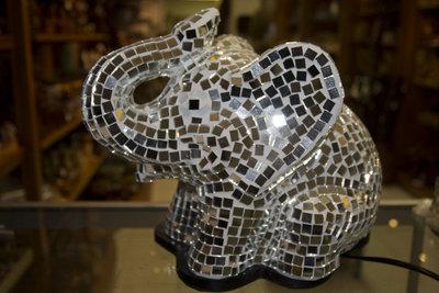 Lamp mozaik Olifant