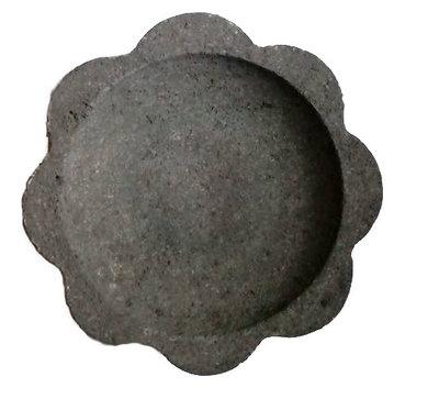 (Sambal) bakje / schaaltje lavasteen bloem