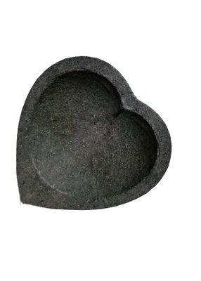 (Sambal) bakje / schaaltje lavasteen hart