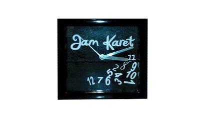 """Klokje """"Jam Karet"""" zwart"""