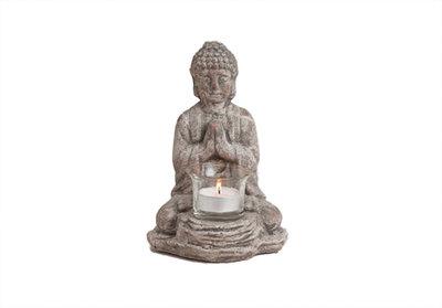 Boeddha met waxinelichtje