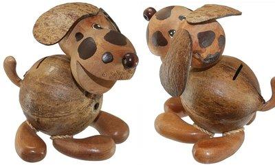 Spaarpot kokos HOND