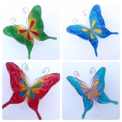Vlindertje met zuignap M
