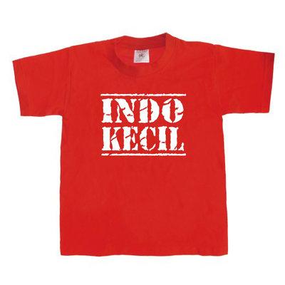 Kinder T-shirt INDO-KECIL (rood/wit)