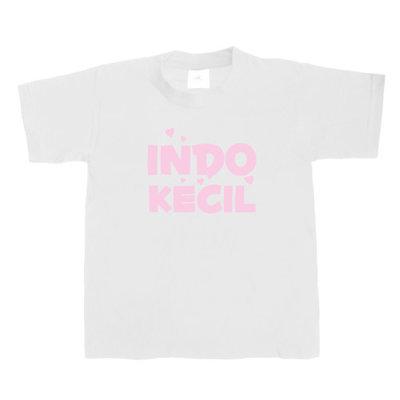 Kinder T-shirt INDO-KECIL (wit/roze)
