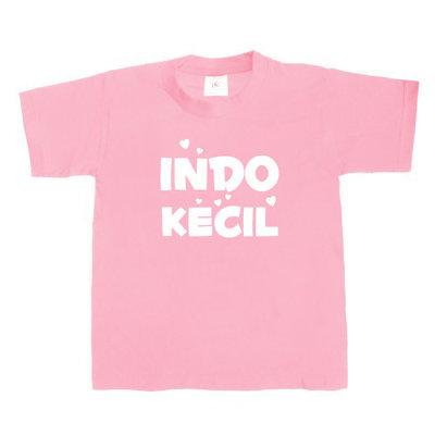 Kinder T-shirt INDO-KECIL (roze/wit)