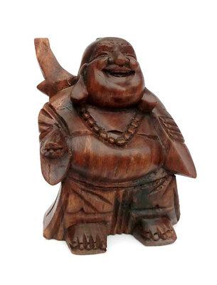 Happy Boeddha - Putai - Hokei - Lachende Boeddha (Donker hout)