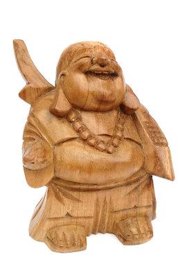 Happy Boeddha - Putai - Hokei - Lachende Boeddha (Blank hout)
