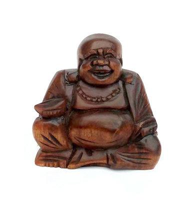 Happy Boeddha / putai / hokei 8cm DONKER