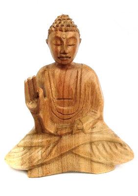 Boeddha beeld 15cm blank