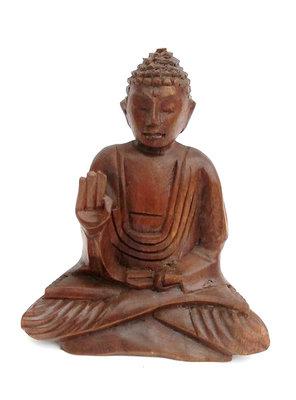 Boeddha beeld 15cm donker