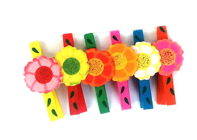 Knijpertje bloem