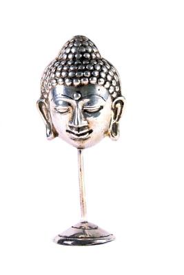 Boeddha-hoofdje nikkel/messing