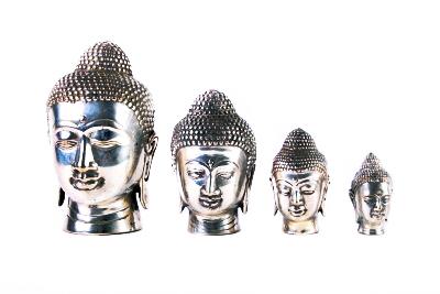 Boeddha hoofdje, nikkel