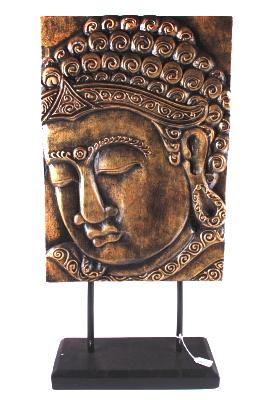 Paneel Boeddha-hoofd op standaard