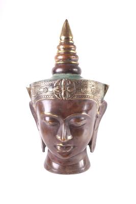 Boeddha hoofd brons