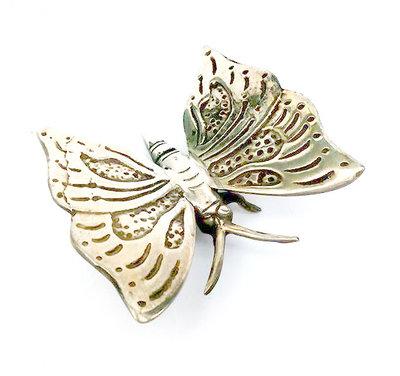 vlinder, nikkel op messing