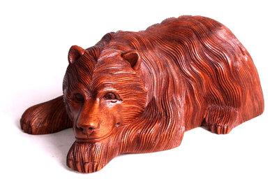 Liggende beer (hout/26cm)