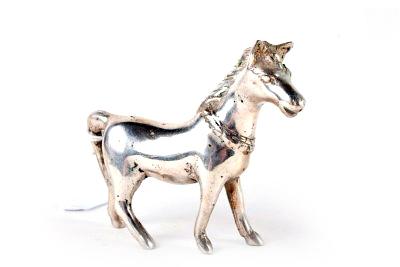 Paardje, nikkel op messing