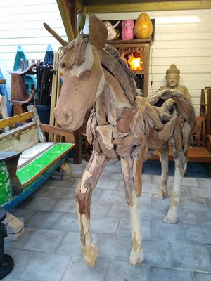 Paard van Drijfhout / Teak