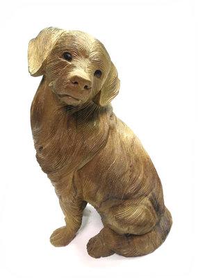 Houtsnijwerk hond 40cm